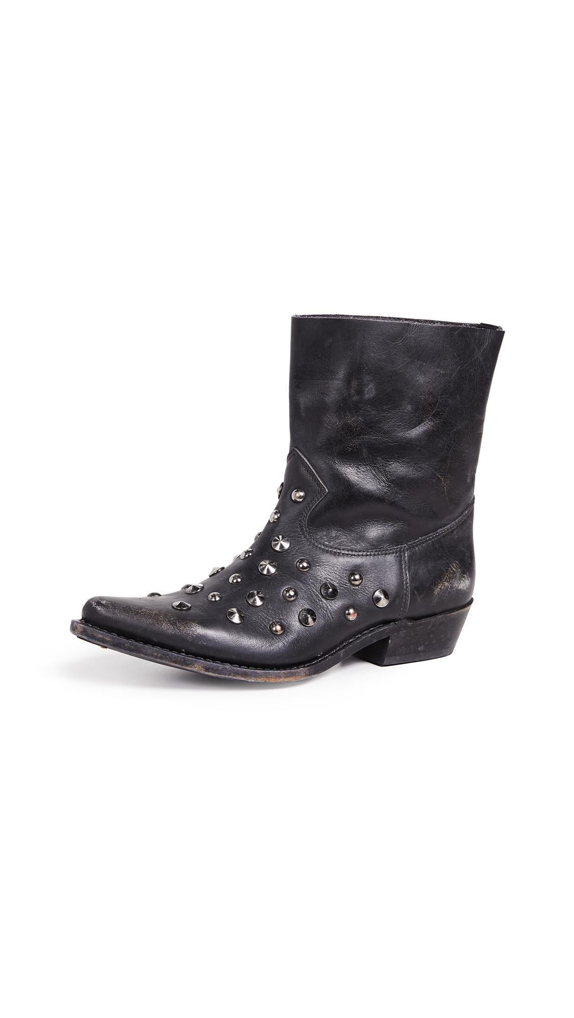 Golden Goose Tribute Boots In Black