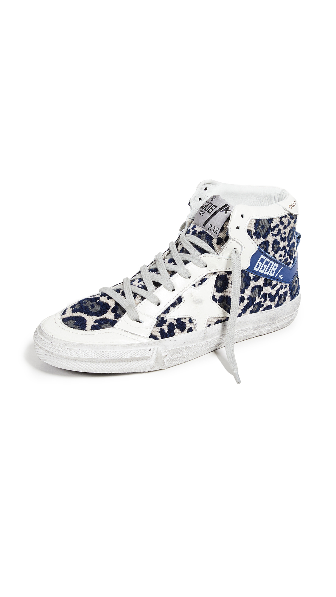 Golden Goose 2.12 Sneakers - Navy Leopard