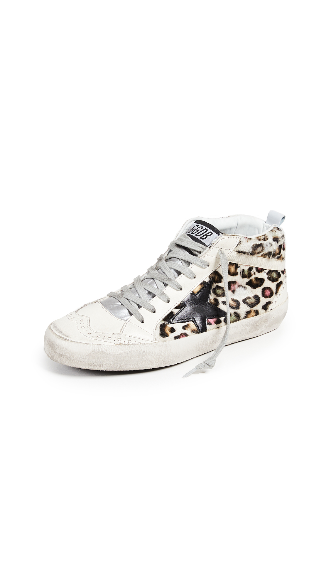 Golden Goose Mid Star Sneakers - Multicolor/Black