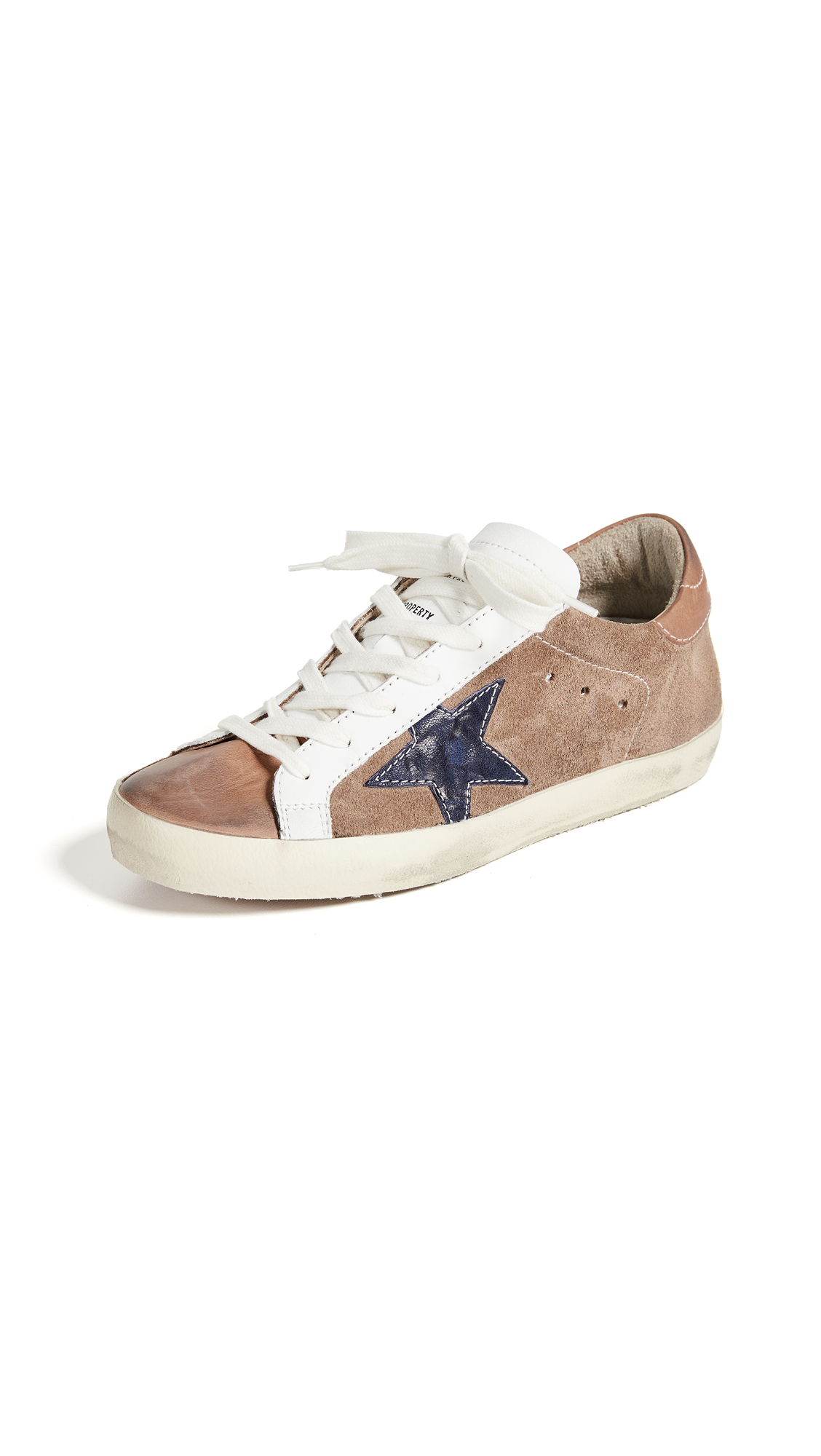 Golden Goose Superstar Sneakers - Tan/Indigo