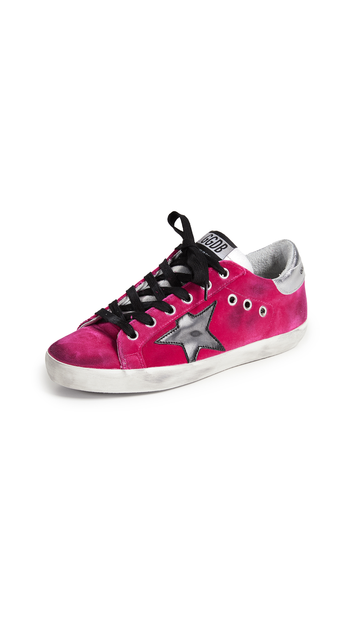 Golden Goose Superstar Sneakers - Fuchsia/Black