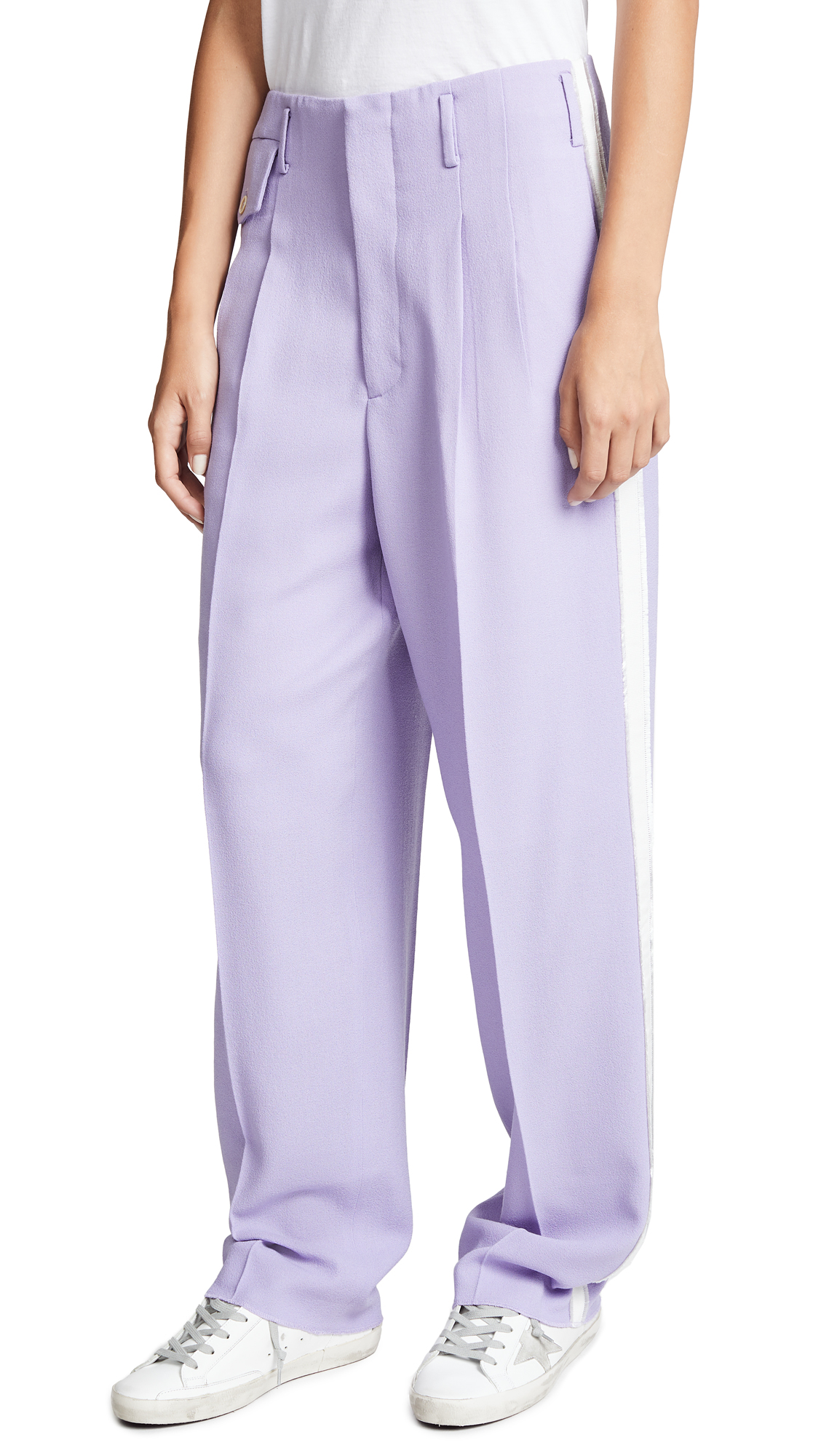 Golden Goose Sally Pants In Lilac