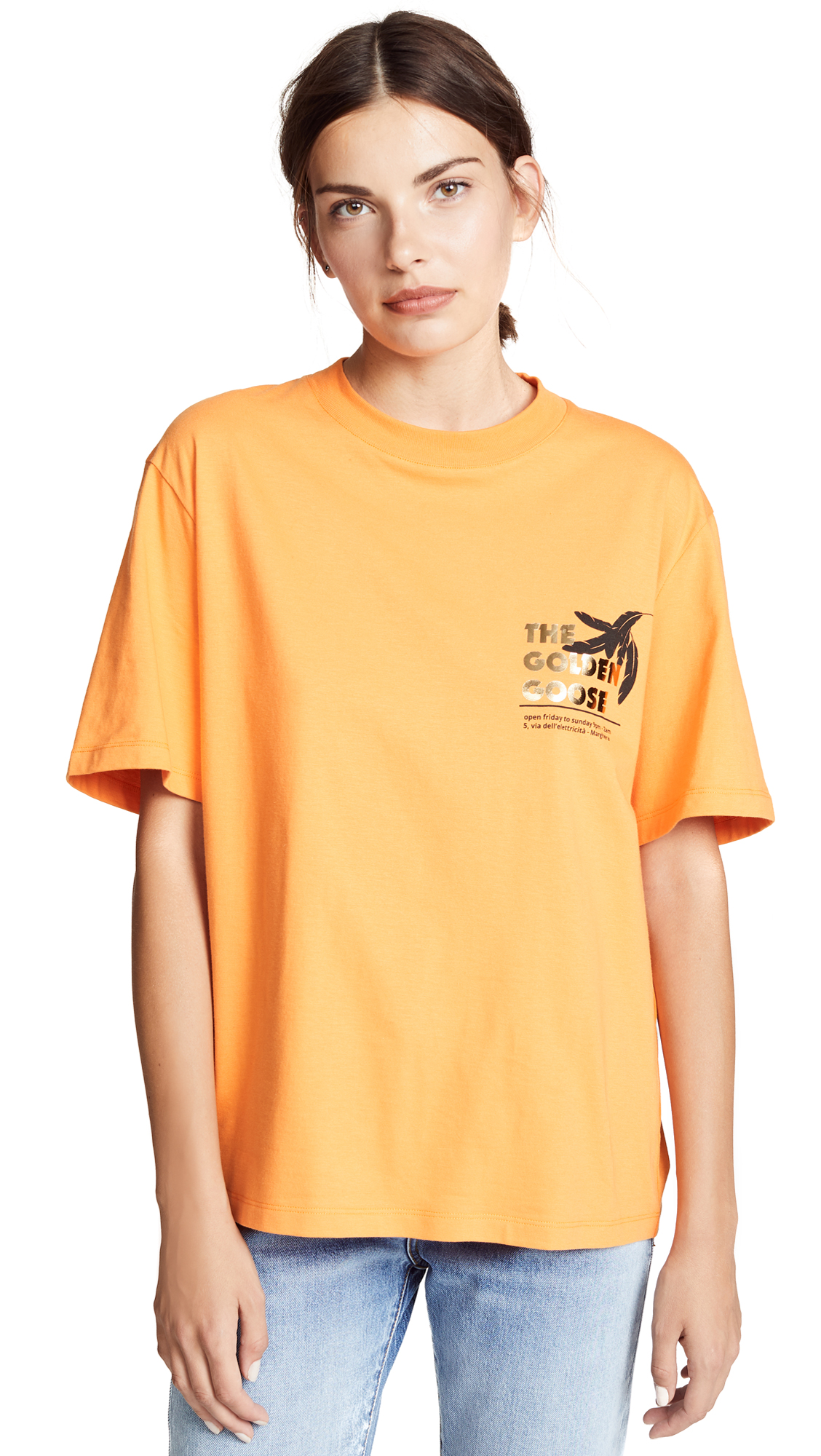 Golden Goose Leo T-shirt In Cinnamon