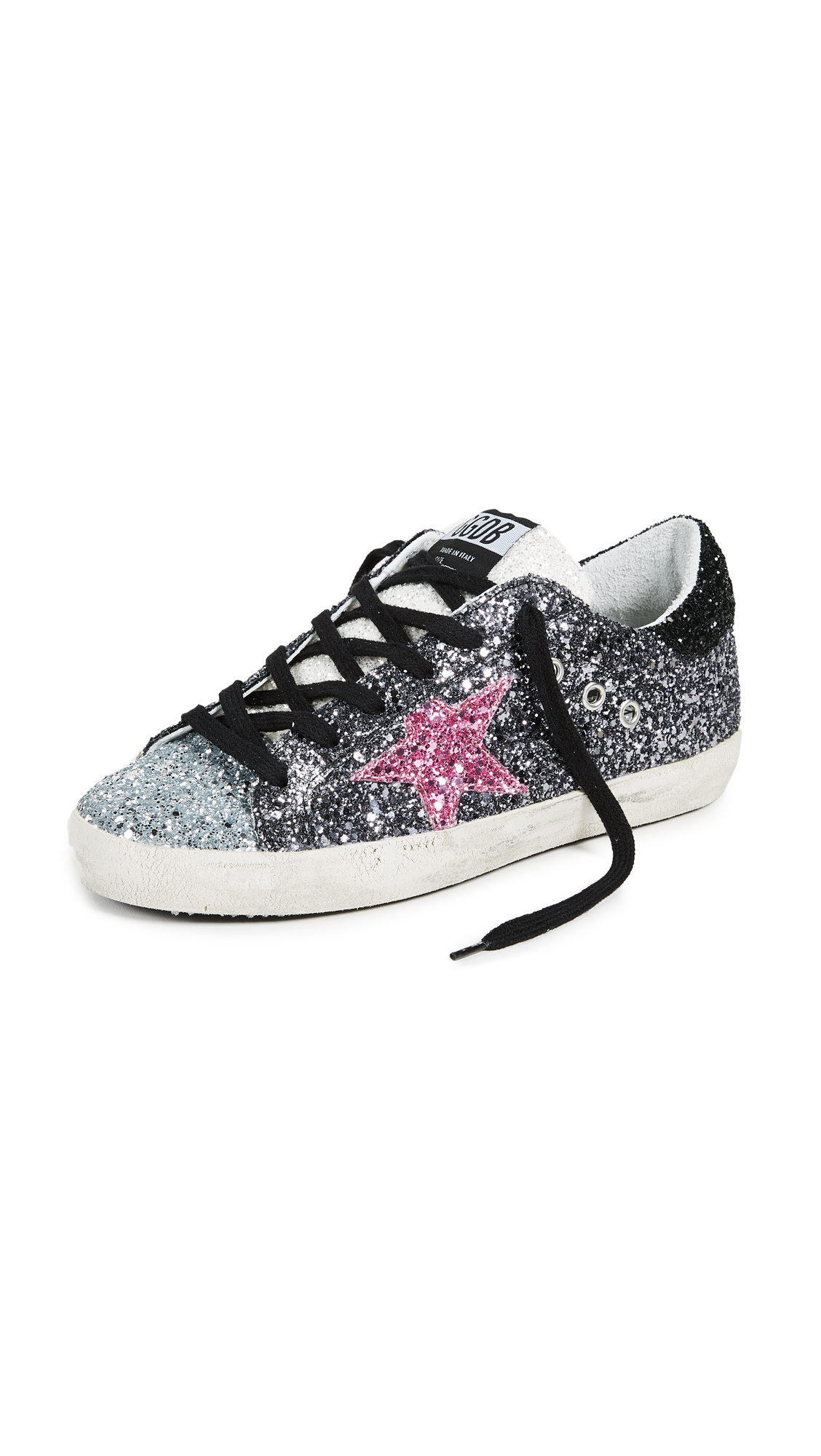 Golden Goose Superstar Sneakers - Gunmetal/Silver/Pink