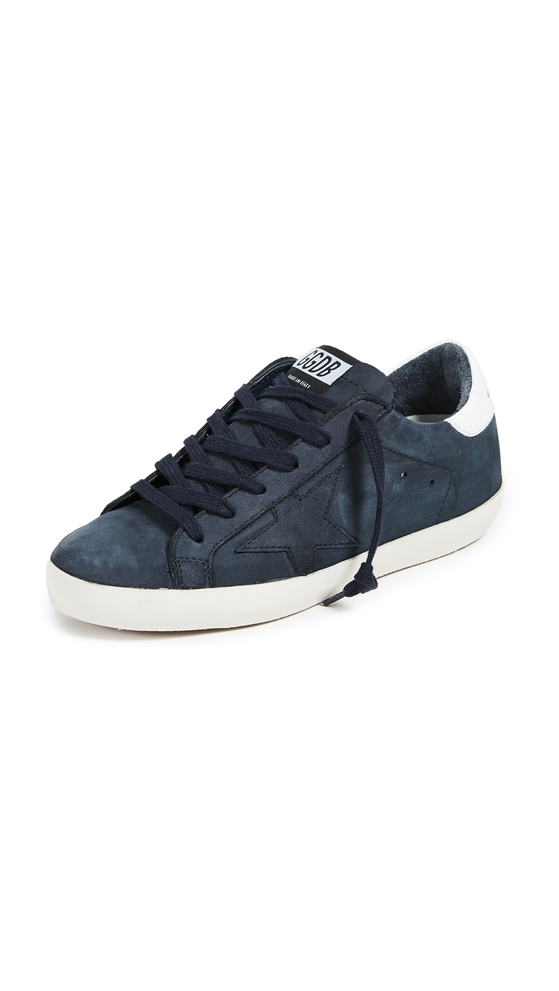 Golden Goose Superstar Sneakers - Blue/Gold