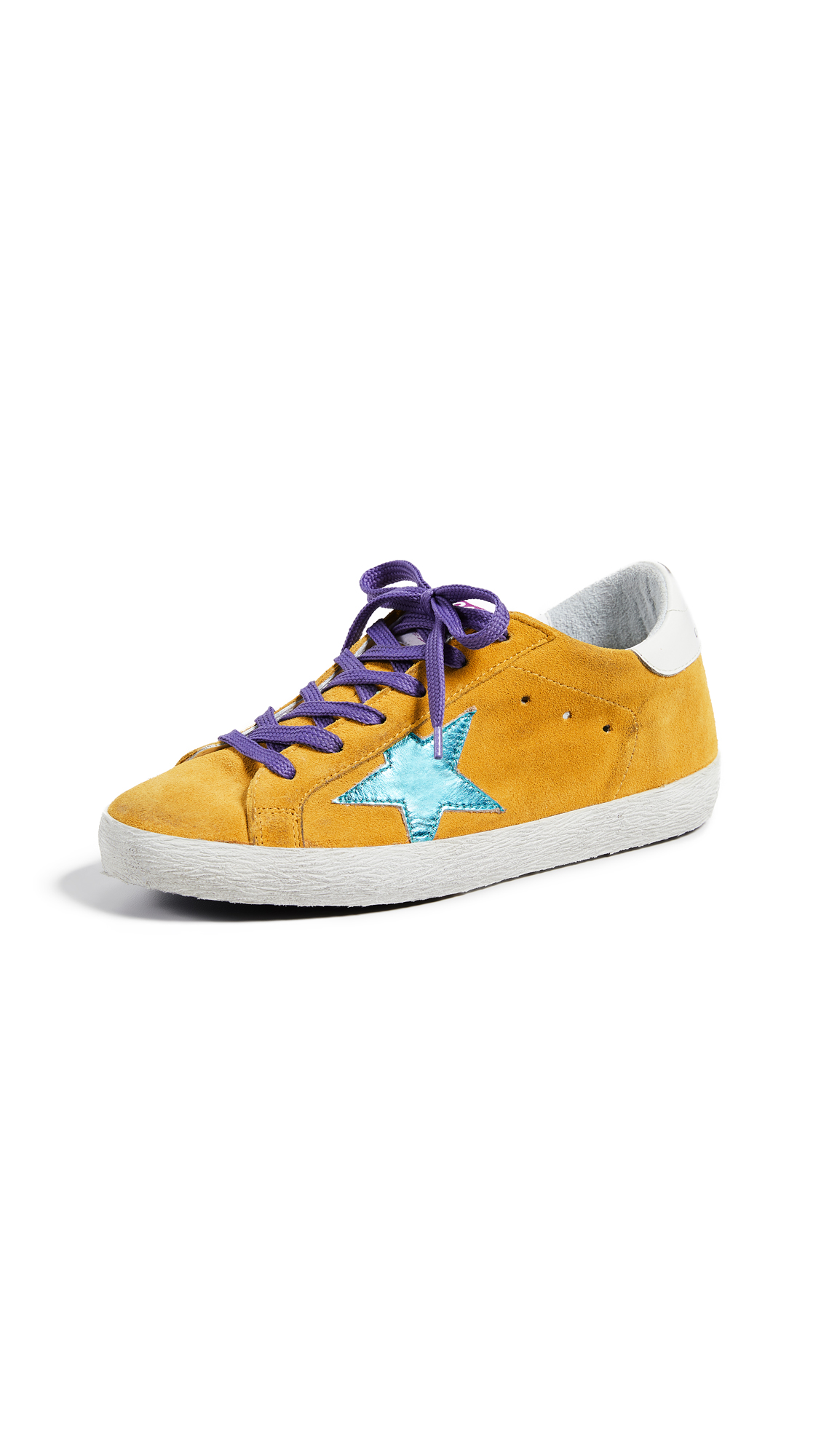 Golden Goose Superstar Sneakers - Sun/Acquamarine Star