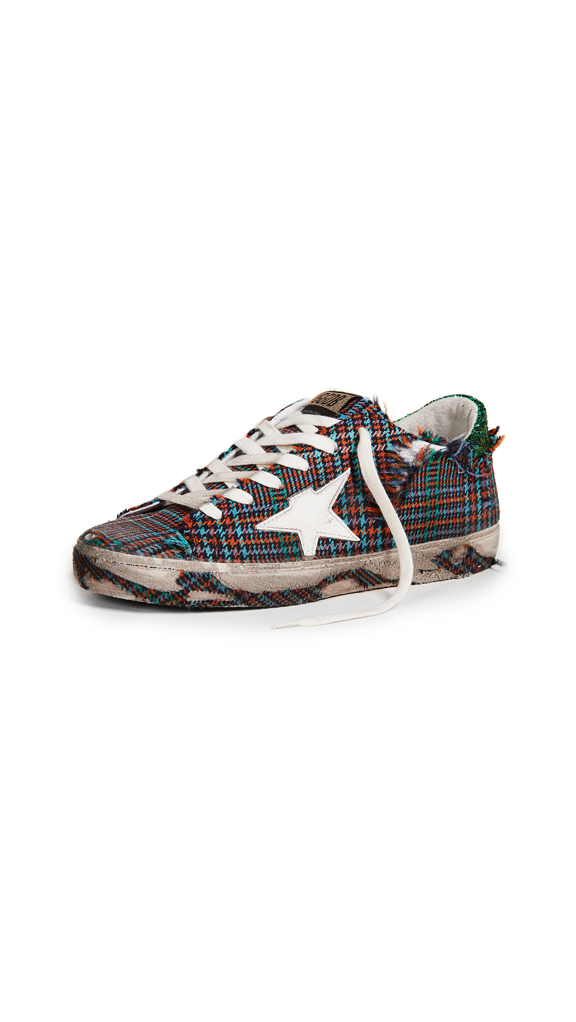 Golden Goose Superstar Sneakers - Check/Green