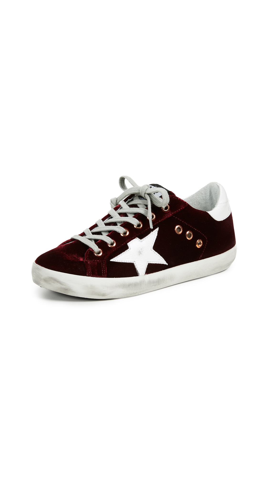 Golden Goose Superstar Sneakers In Bordeaux/White