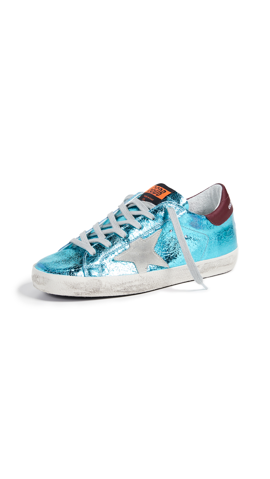 Golden Goose Superstar Sneakers - Metallic Aquamarine