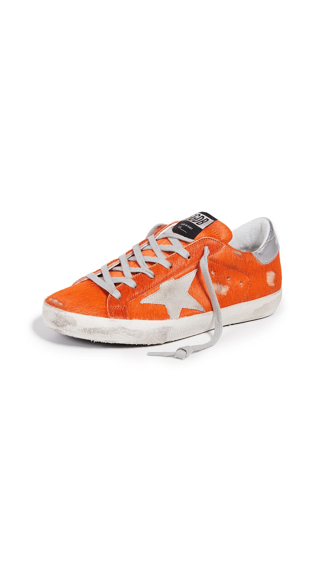Golden Goose Superstar Sneakers - Orange/Ice