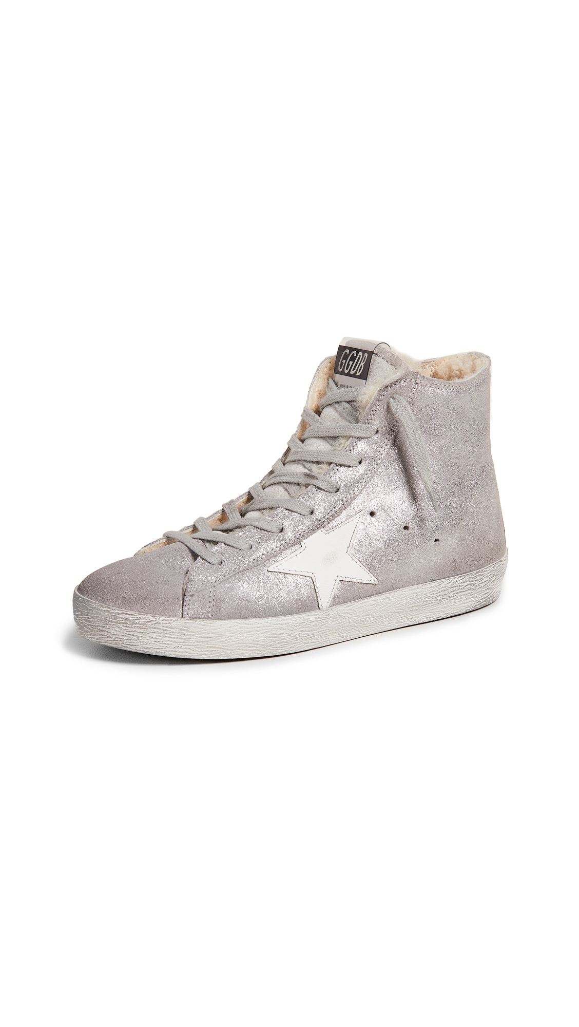 Golden Goose Francy Sneakers - Silver/White