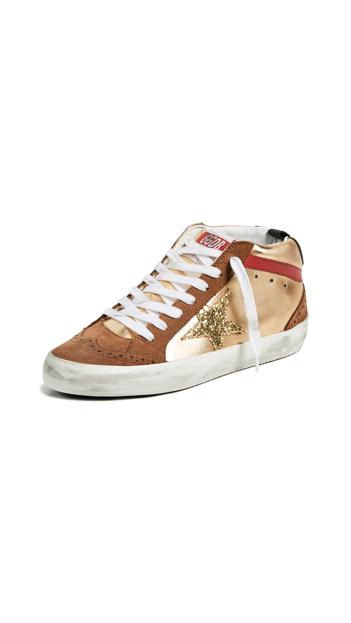 Golden Goose Leathers MID STAR SNEAKERS