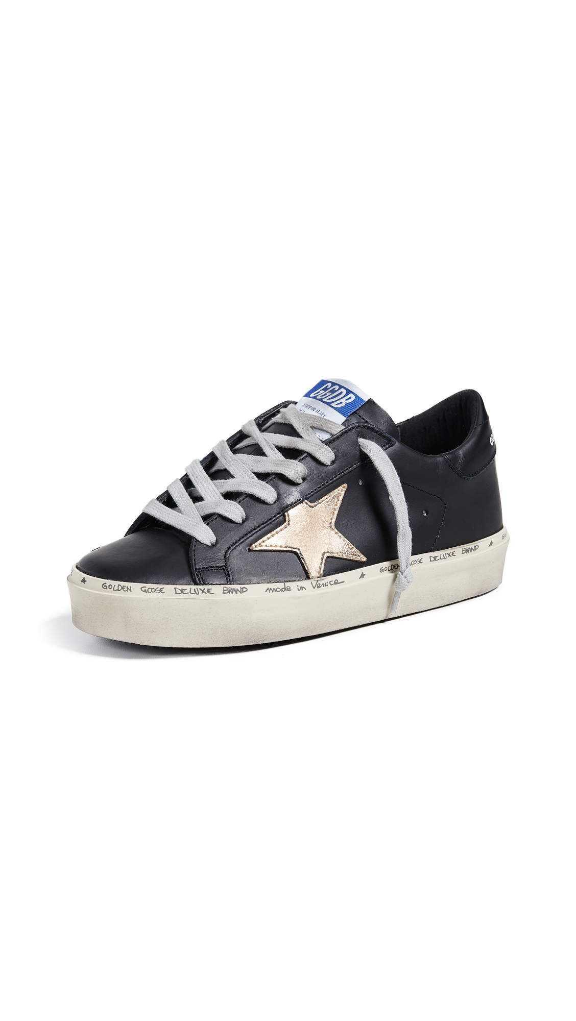 Golden Goose Hi Star Sneakers - Black/Gold