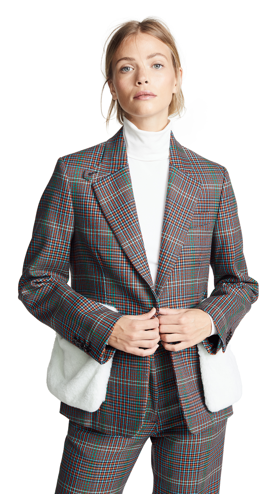 Golden Goose Jacket Monica In Multi Check/Arctic