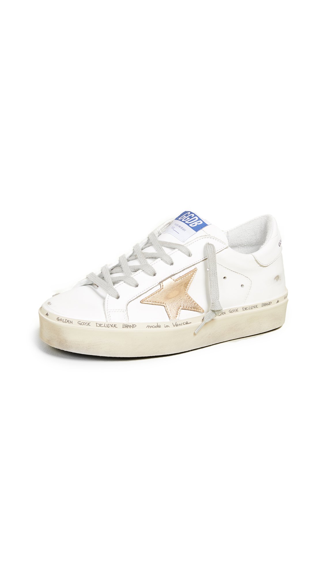 Golden Goose Hi Star Sneakers - White/Gold