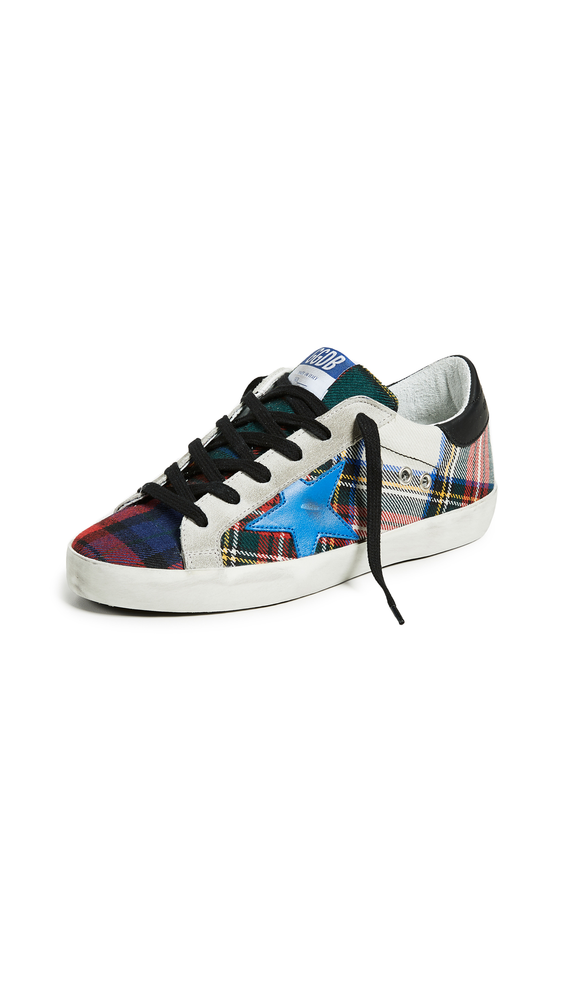Golden Goose Superstar Sneakers - Red/Green/White