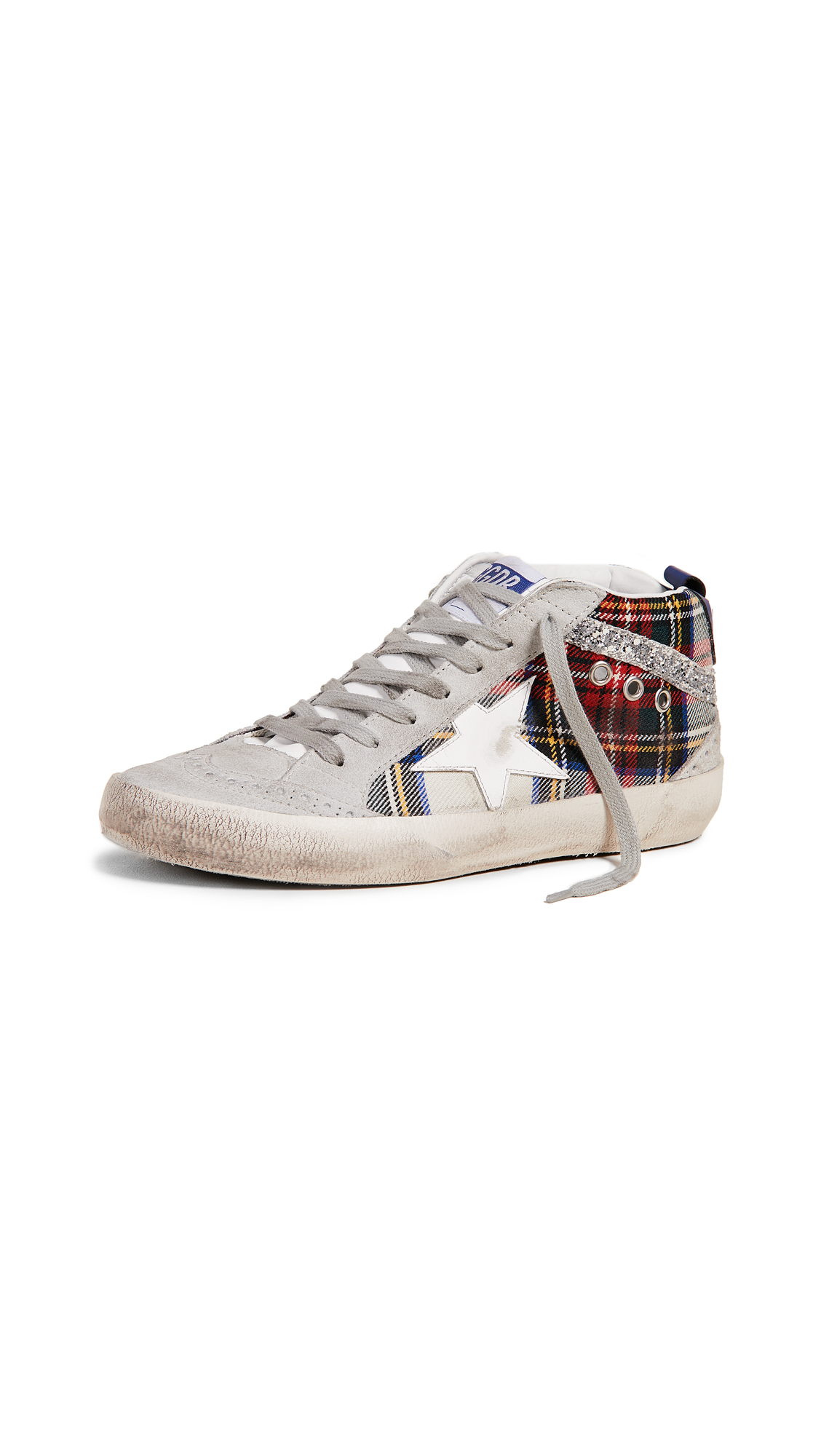 Golden Goose Mid Star Sneakers - Red/Ice/Silver