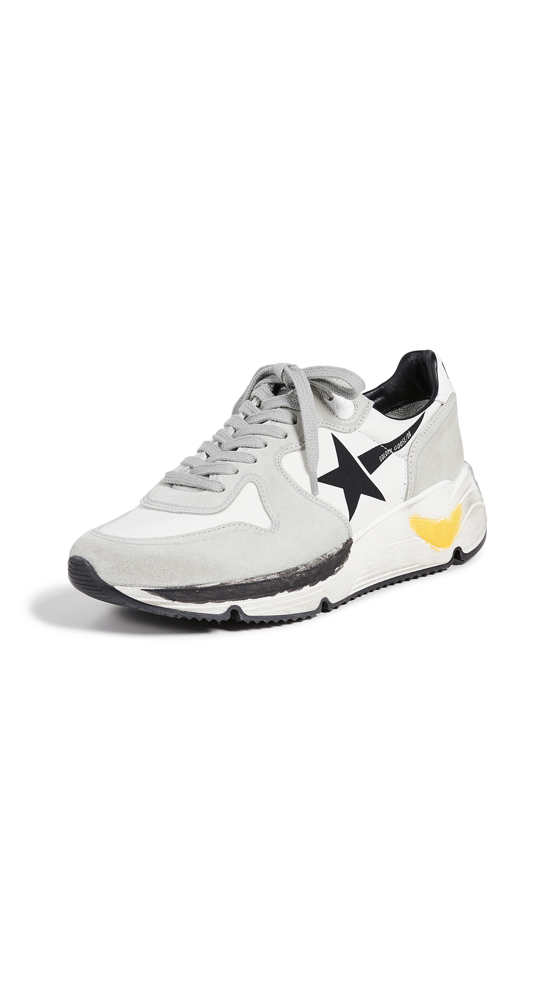 Golden Goose Running Sole Sneakers - White Lycra/Black