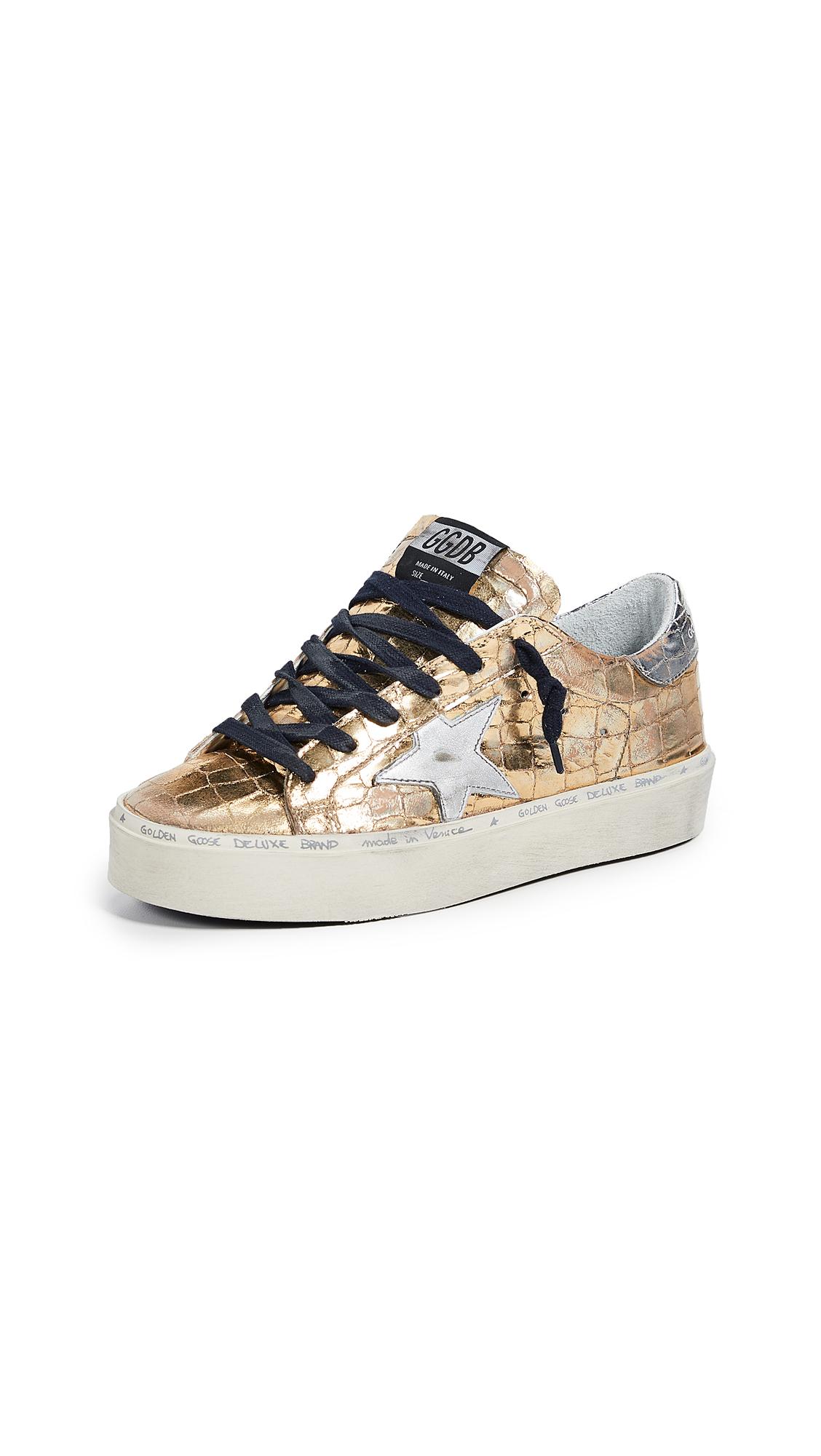 Golden Goose Hi Star Sneakers - Golden Printed Cocco/Silver
