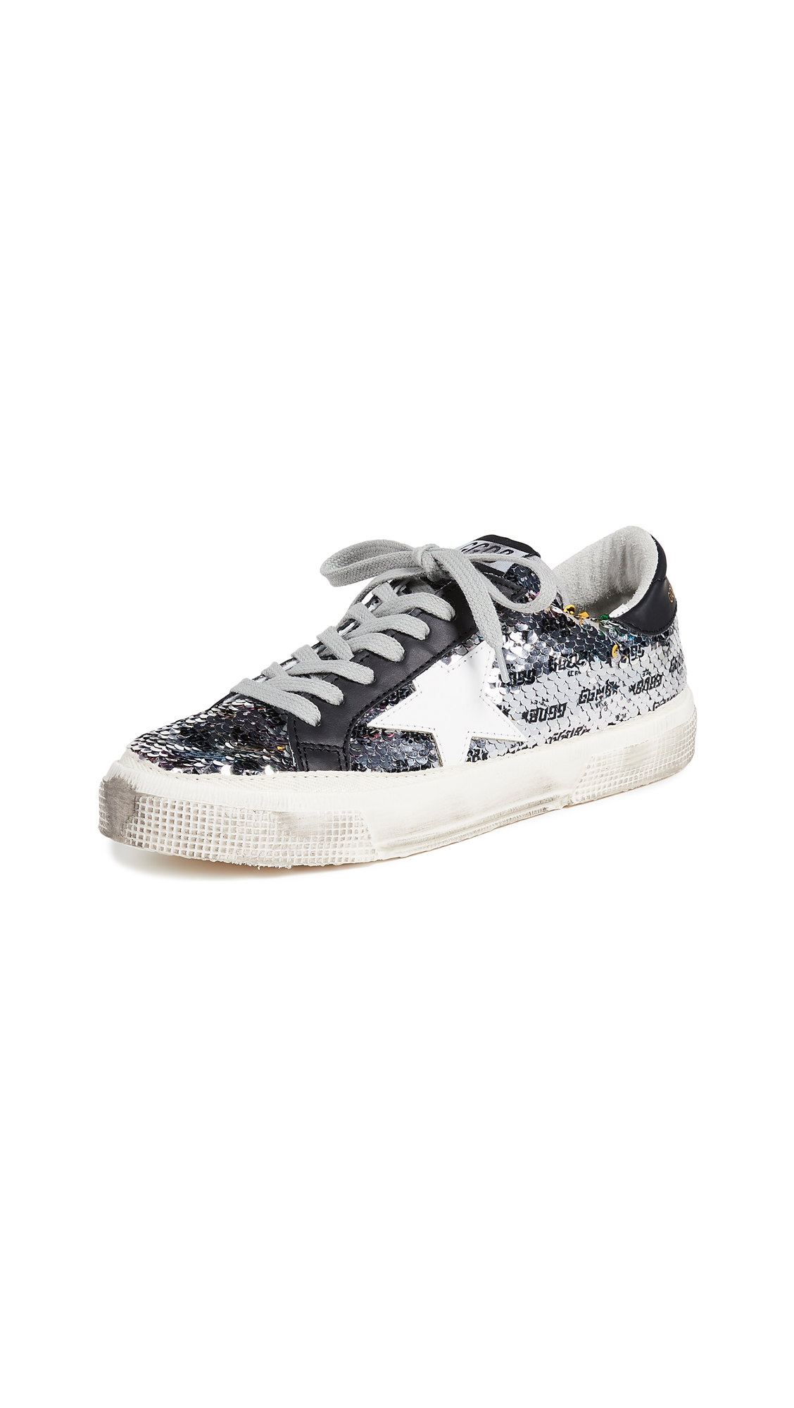 Golden Goose May Sneakers - Rainbow/Silver