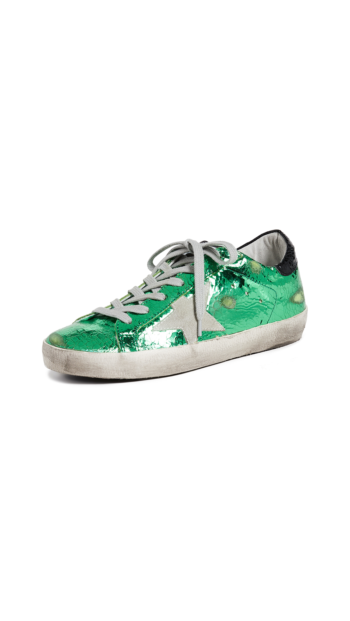 Golden Goose Superstar Sneakers - Green Crack/Ice