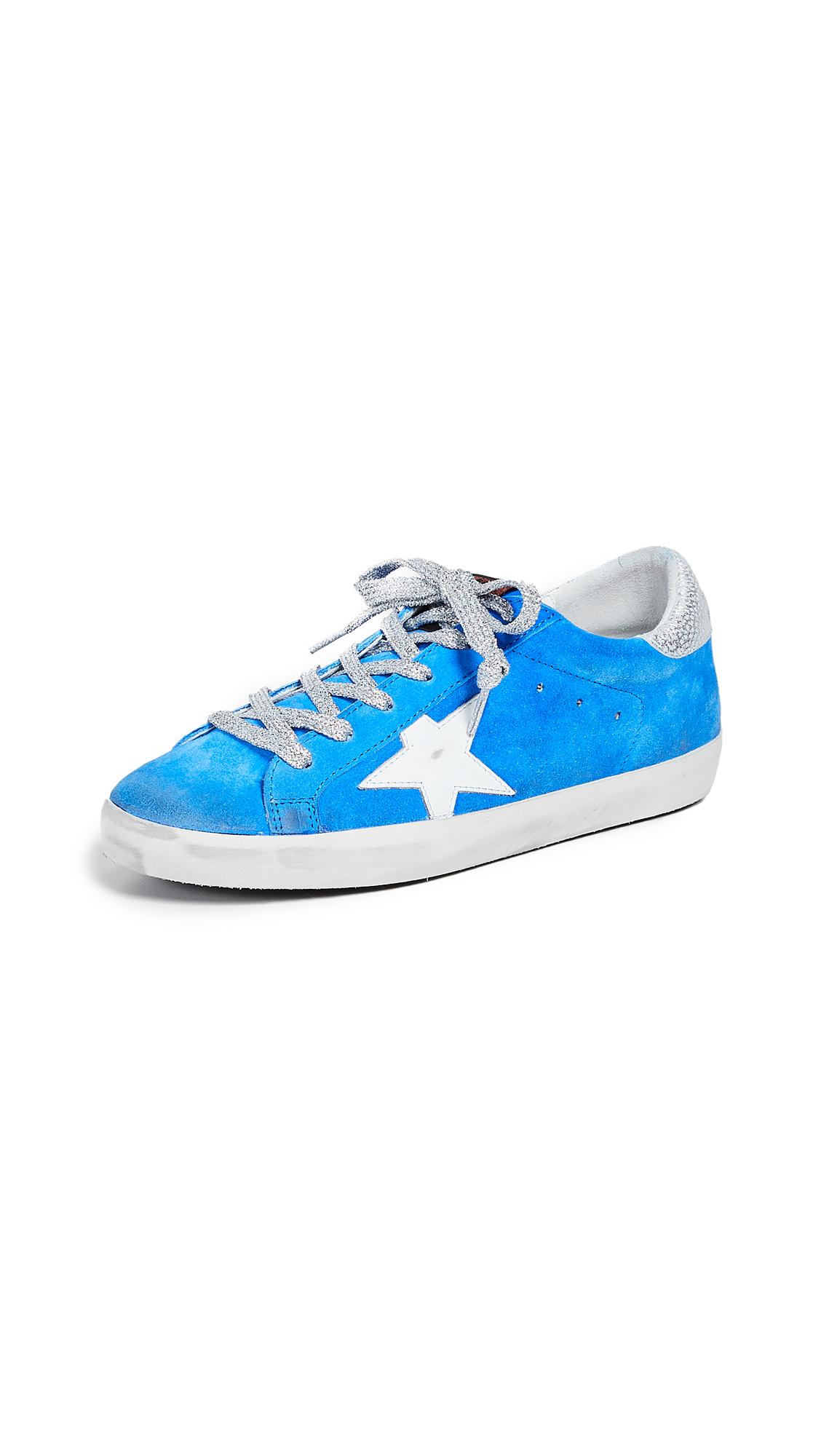 Golden Goose Superstar Sneakers - Neon Light Blue