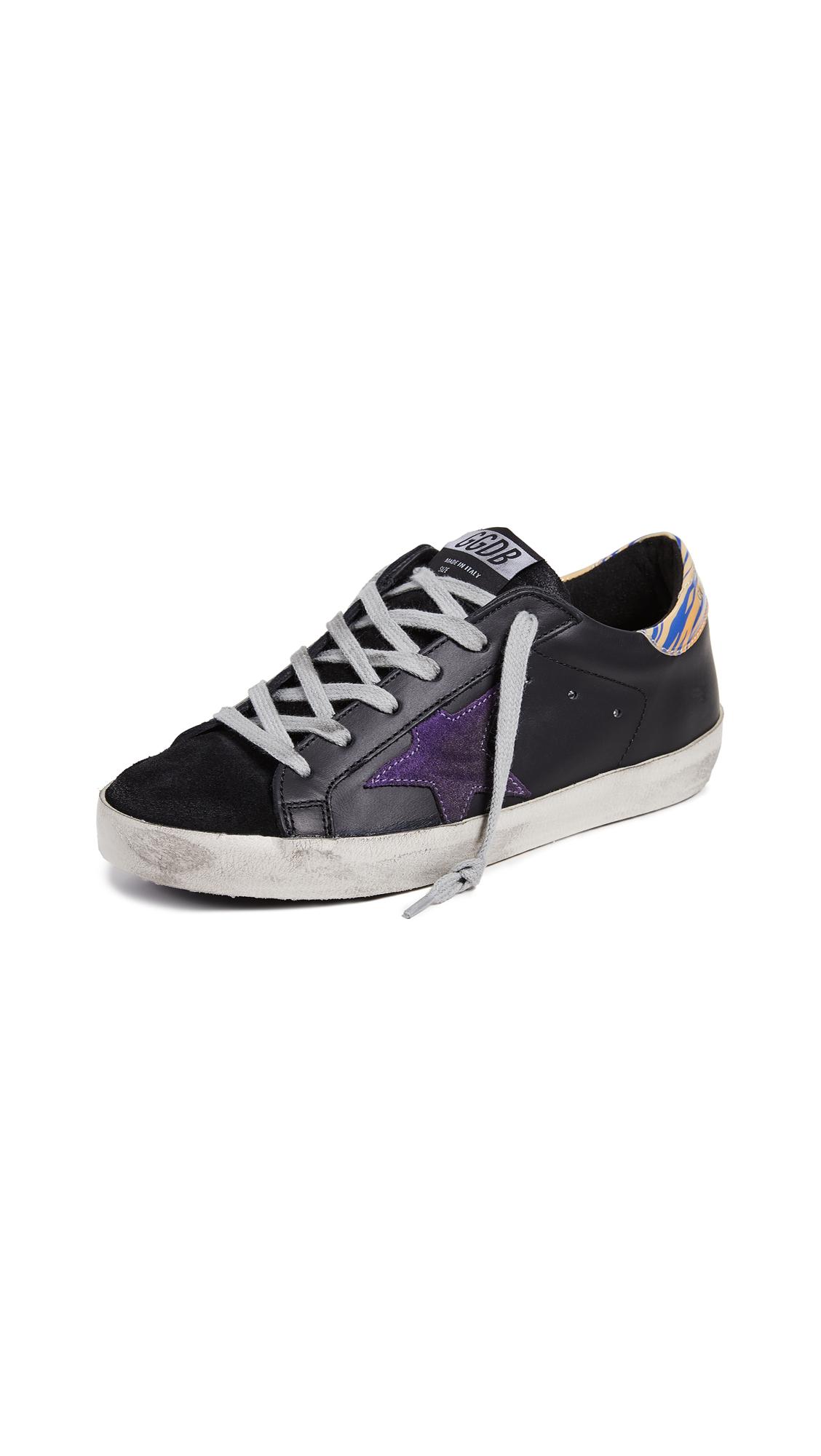 Golden Goose Superstar Sneakers - Black/Purple Zebra
