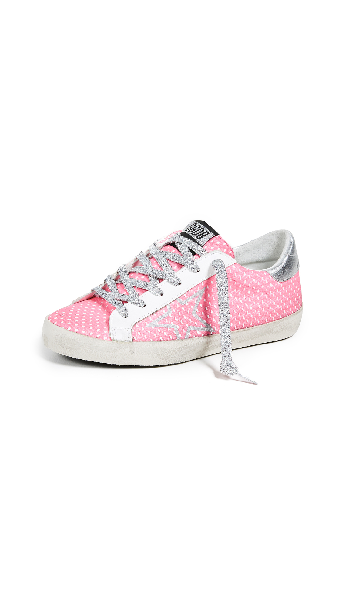 Golden Goose Superstar Sneakers - Pink/Silver