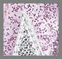 Блестящий розовый ПВХ/белый/серебристый