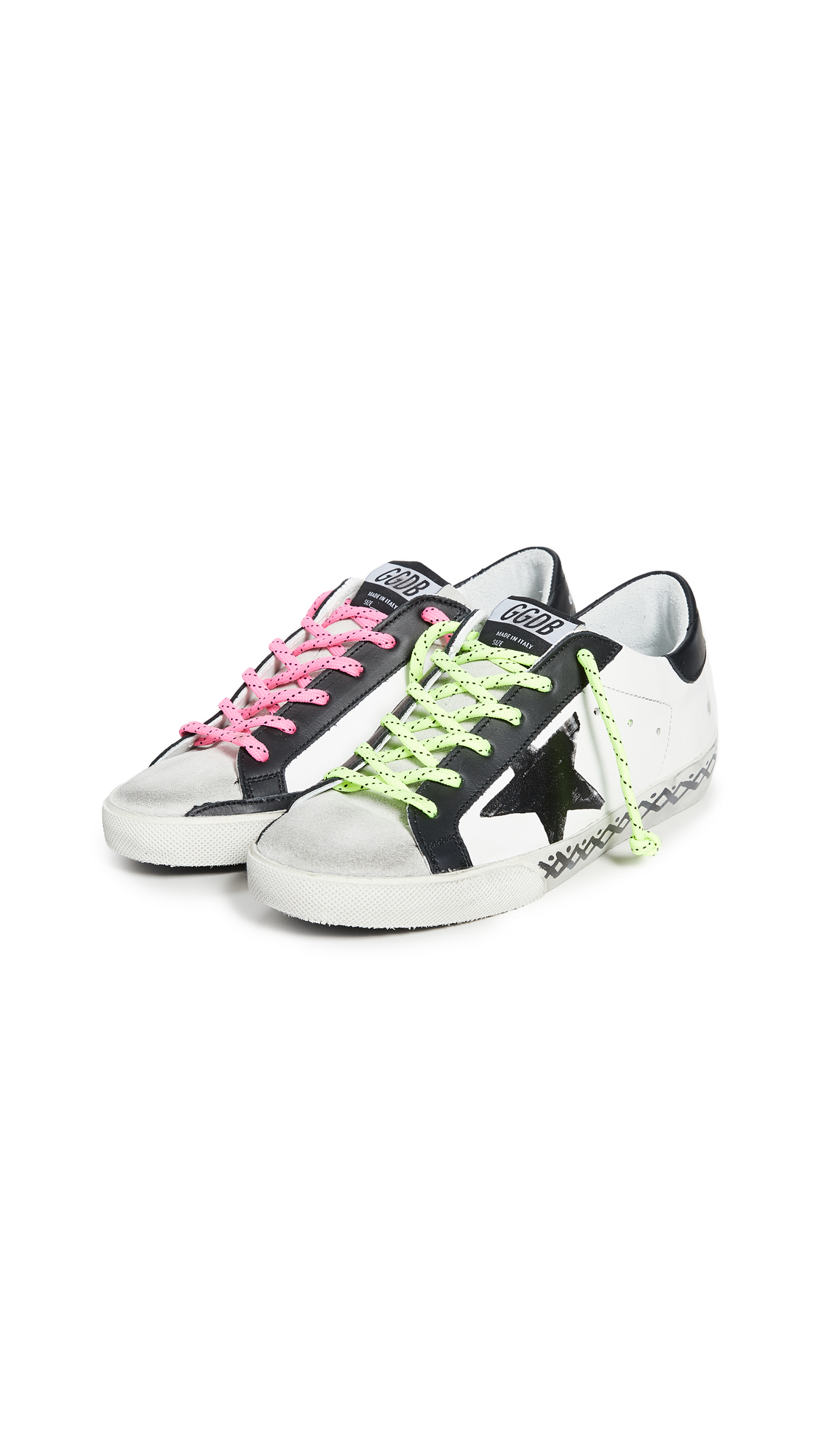 Golden Goose Superstar Scribble Sneakers - 50% Off Sale