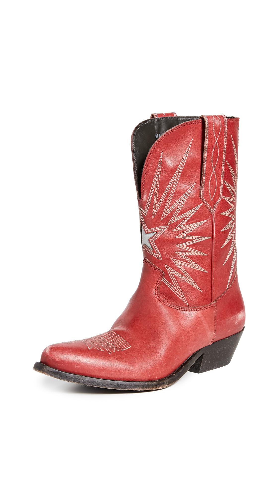 Golden Goose Wish Star Low Boots In Spritz