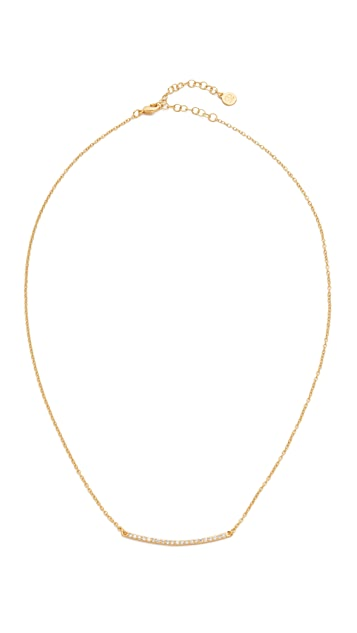 Gorjana Taner Pave Bar Necklace