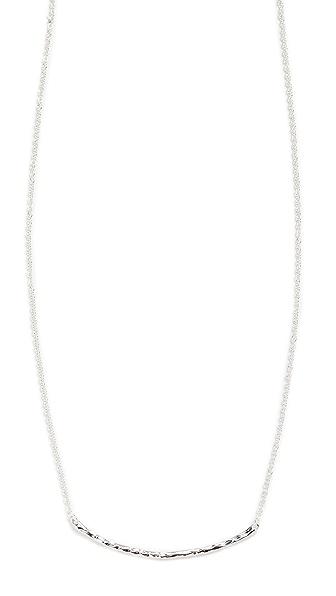Gorjana Taner Bar Necklace In Silver