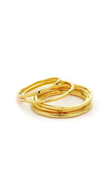 Gorjana Mixed Size Simple Ring Set