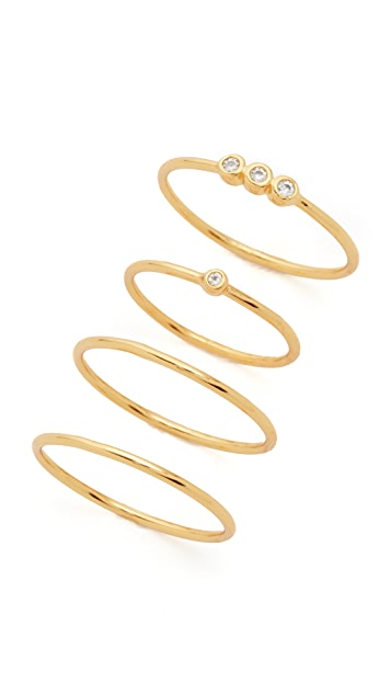 Gorjana Bri Shimmer Ring & Midi Set
