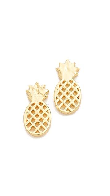 Gorjana Pineapple Stud Earrings