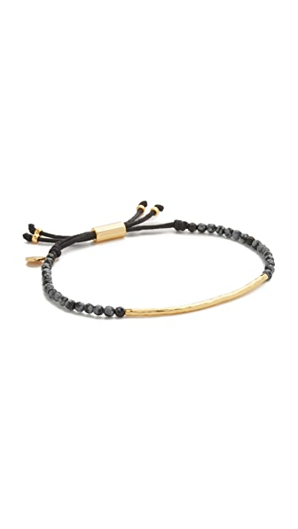 Gorjana Power Gemstone Bracelet For Confidence - Gold/Snowflake Obsidian