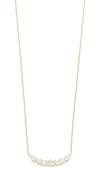 Gorjana Amara Necklace In White Cz/Gold
