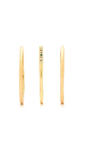 Gorjana Shimmer Bar Ring Set