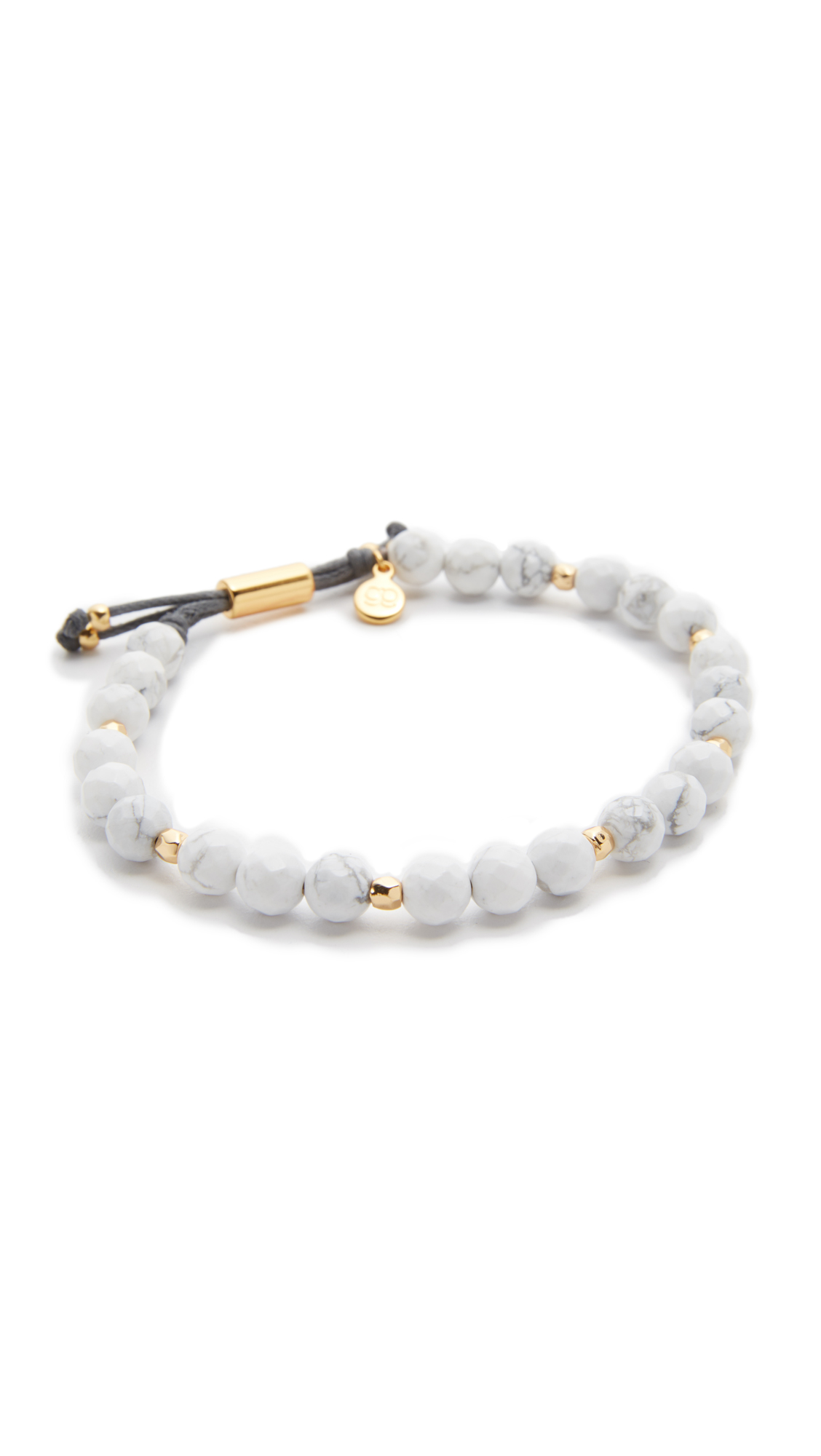 Gorjana Power Howlite Bracelet for Calming - Howlite/Gold