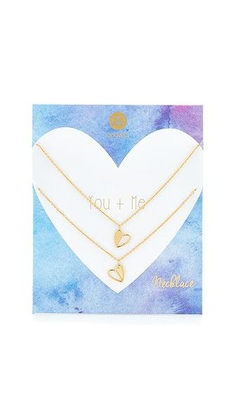 Gorjana You + Me Heart Necklace Set