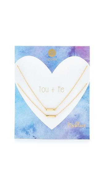 Gorjana You + Me Shimmer Bar Necklace