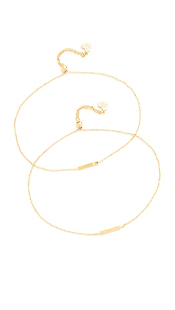 Gorjana You + Me Shimmer Bar Bracelet Set