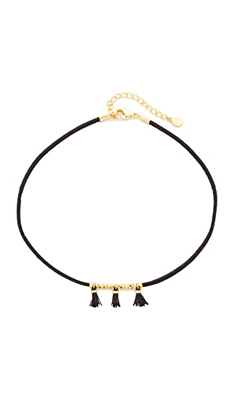 Gorjana Miller Tassel Choker Necklace - Black/Black/Gold