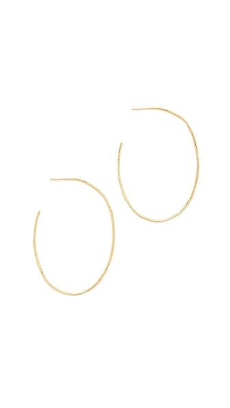 Gorjana Harbour Oval Hoop Earrings - Gold