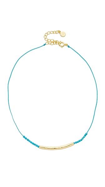 Gorjana Power Gemstone Choker Necklace - Turquoise/Gold