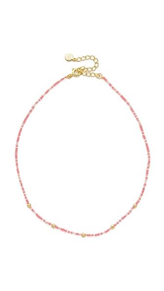 Gorjana Marlow Beaded Choker Necklace - Hot Pink/Gold