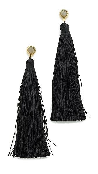Gorjana Tulum Gemstone Tassel Earrings