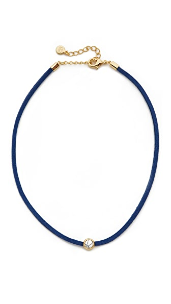 Gorjana Fairfax Gemstone Choker Necklace - Howlite/Navy/Gold