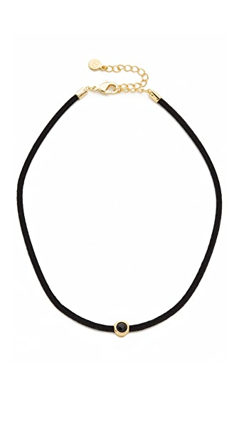 Gorjana Fairfax Gemstone Choker Necklace - Black/Black/Gold